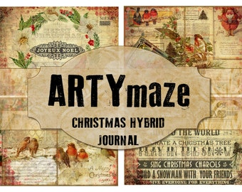 CHRISTMAS Hybrid Journal Kit INSTANT DOWNLOAD