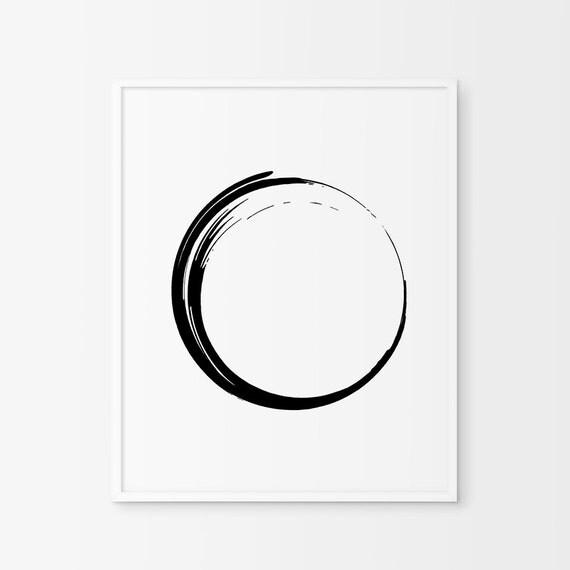 Minimalist Circle Zen Art Japanese By ChicScandinavian On Etsy