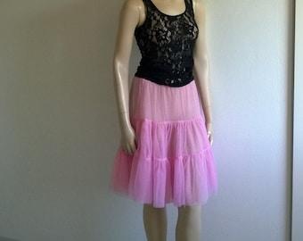 Vintage 90s Petticoat two layer crinoline Tulle tutu Skirt