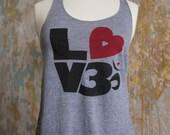 Yoga Love Tank - Love Om Heather Grey