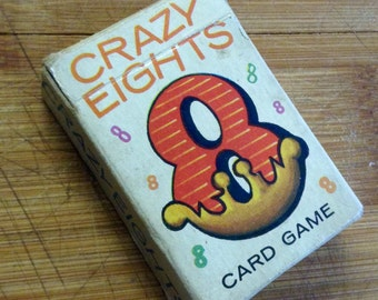 Crazy Eights Vintage Whitman Card Game