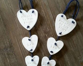 Personalized Mother Of The Bride Gift ~ Mother Of The Groom ~ Wedding Decor ~ Clay Garland