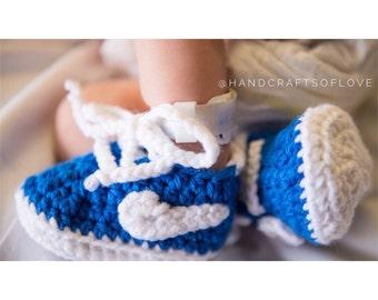 Crochet Nike Inspired Booties
