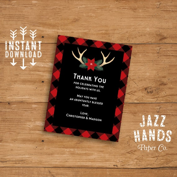 christmas party thank you card or insert card template diy. Black Bedroom Furniture Sets. Home Design Ideas