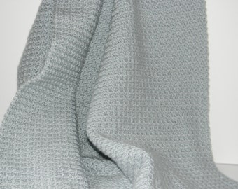 Grey Crocheted Baby/Lap Blanket