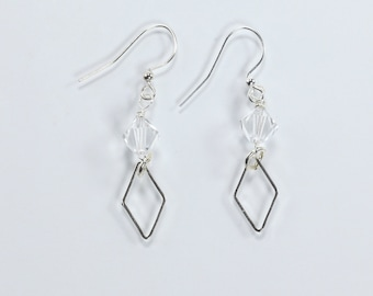 Swarovski Crystal & Silver Earrings