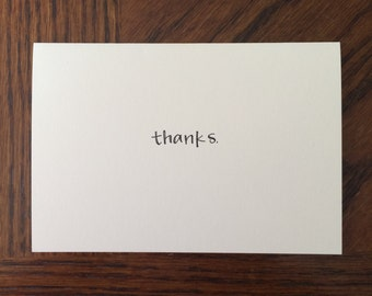 Handmade Folded Thank You Greeting Card- A Little Thanks (envelope included)