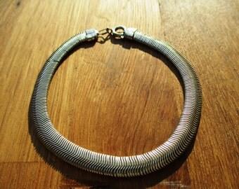 VINTAGE metal link bracelet with clasp