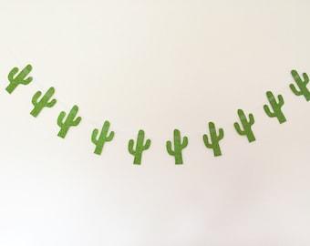 Glitter cactus garland