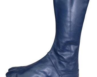 Leather Tabi Boots