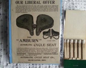Original 1897 Bicycle Seat Munseys Magazine Print Ad