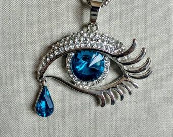 Long Necklace Pattern Necklace Pendants Teared Eye/Teardrop Jewelry