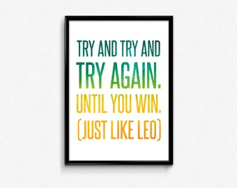 Win Like Leonardo DiCaprio Poster