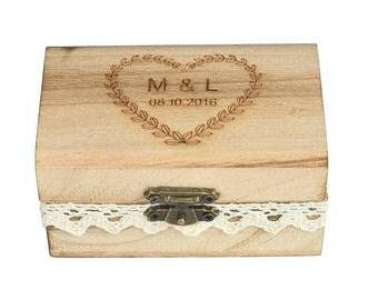 Custom Ring Box ~ personalised  ~ wedding ring box ~ ring bearer ~ wooden ring box ~ wedding ~ bride groom ~ bridal party ~
