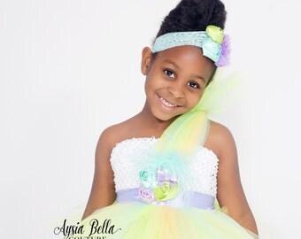 Easter Tutu Dress, Spring Tutu Dress, One Shoulder Dress