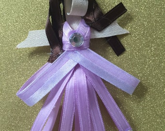 Disney Princess Hair Clips, Structured Ribbon Clippies