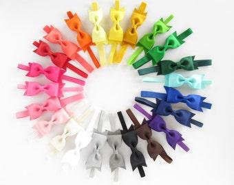 You choose color tuxedo bow headbands, baby toddler girls headbands, 4 inch basic everyday headbands, school headbands