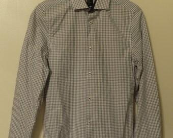 White And Blue Plaid Shirt (size XS)