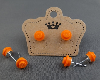 LEGO Earring Stud - Orange