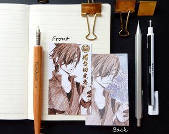 Touken Ranbu Sketch Anime Bookmark Card - Shokudaikiri Mitsutada