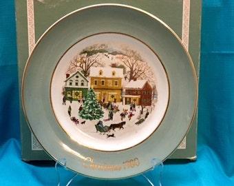 "Vintage 1980 Avon Christmas Plate "" Country Christmas"""