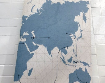 World Traveler Graph Paper Hand-Sewn Notebook