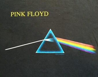 90s Black Pink Floyd The Dark Side Of The Moon medium shirt