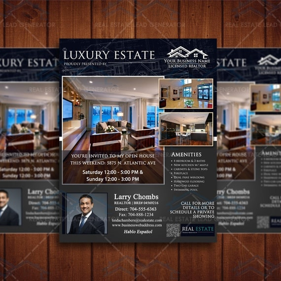 instant download luxury real estate flyer by
