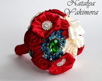 Bridesmaid's bouquet, Wedding Toss bouquet, red bouquet, mini bouquet, Unique Wedding Bridal Bouquet, Wedding Accessories, Wedding set