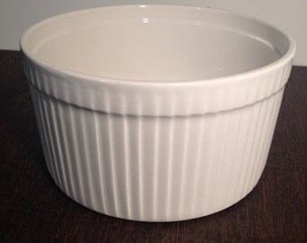 Lord Nelson Pottery England White Souffle Dish