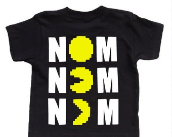 Pacman NOM NOM Toddler Shirt! Available in 2T-5T!