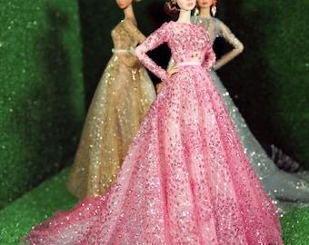Pink dress for fashion royalty , Poppy Parker, Silkstone Barbie, fr2 , 12'' Fashion Doll