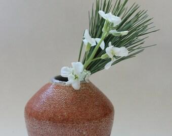 Ceramic Stoneware Vase with shino glaze