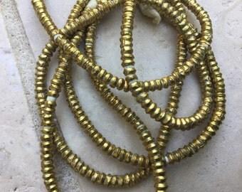 Ethiopia Brass Disc Spacers