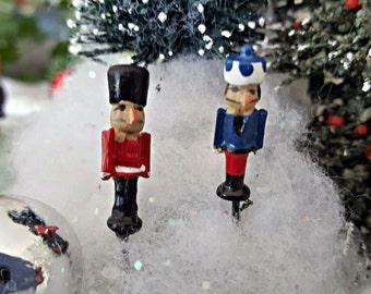 Miniature Teeny Christmas Nutcrackers - Set of 2