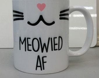 Meowied AF coffee mug