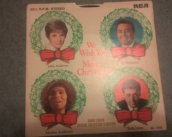 vintage 33 1/3  Christmas record from Radio Shack.