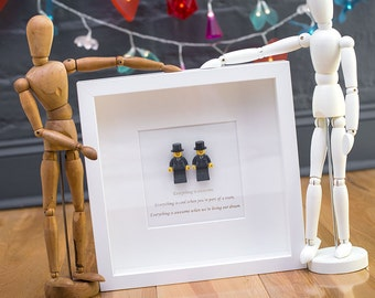 Mr & Mr Lego wedding picture