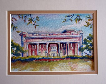 Belmont University watercolor print, by Anna Nations