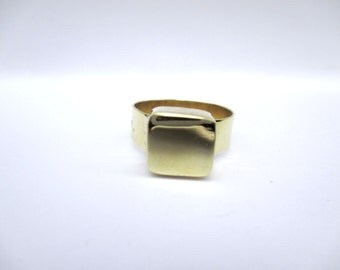 Brass Cube Ring