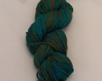 Deep Sea- Merino Bulky Yarn- Hand Dyed- OOAK