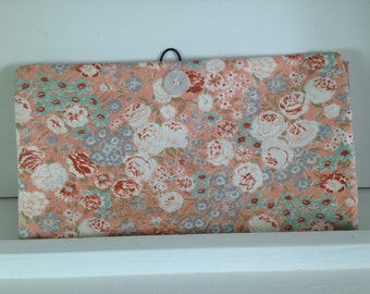 Diaper clutch wipes clutch peach floral
