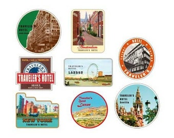 VIntage Stickers for The Traveler's Notebook - Hotel B