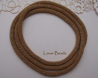 Gold Crochet Beaded Necklace