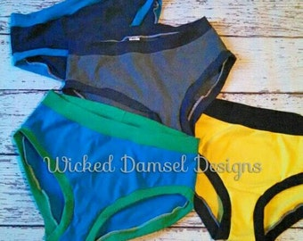 Scrundies - Women's panties - undies - gift for her - boy cut - brief -xs-3x -many color options
