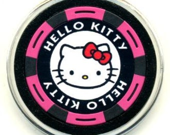 Hello Kitty poker chip card guard - Hello Kitty card protector - paperweight