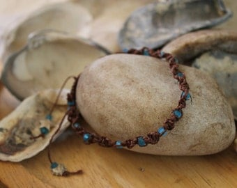 Beach Glass colored anklet
