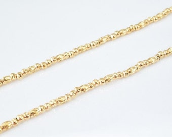"""24K Gold Filled Chain 17"""" Inch Cg82"""