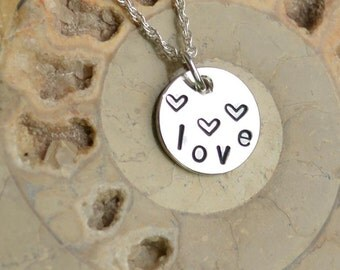 """Handmade Sterling Silver Pendant on 18"""" Silver Chain"""