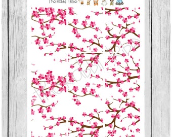Wallpaper Stickers - Cherry Blossoms - planner stickers - #freestyleplanning
